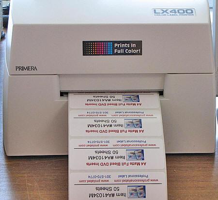 Primera glossy labels for lx400 printer professionallabel com